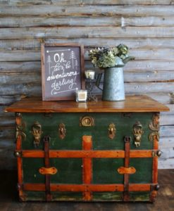 Upcycling An Old Trunk Second Sale Consignments Amp Estate
